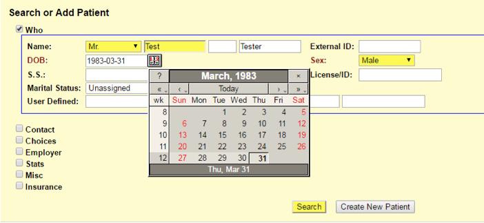 Баг системы в календаре: если сначала выбрать «31-марта-1983», то ...