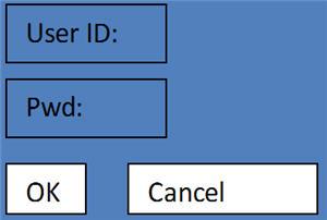 Простая схема экрана логина